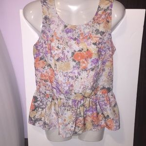 Cynthia Rowley Tops - Cynthia Rowley sleeveless floral top. Size small.